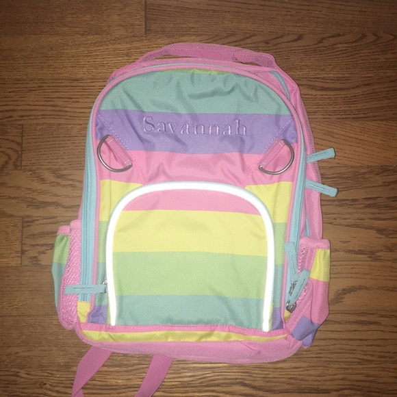 Pottery Barn Kids Accessories   Nwt Fairfax Rainbow Backpack ... a9f1cd3c14